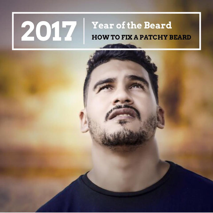 Quick fix to a patchy beard
