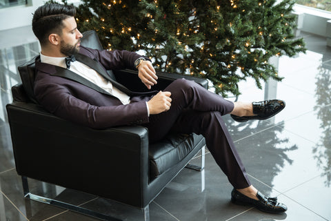 Man with beard in a suit