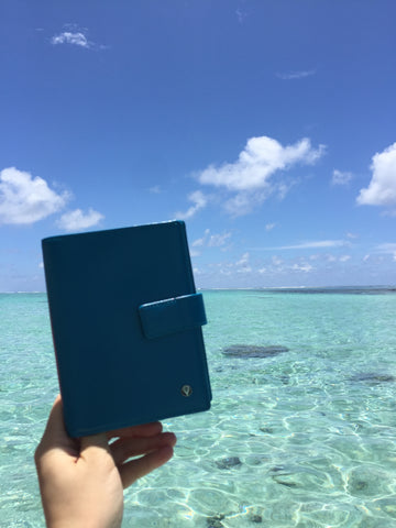 Blue Passport Holder Mauritius