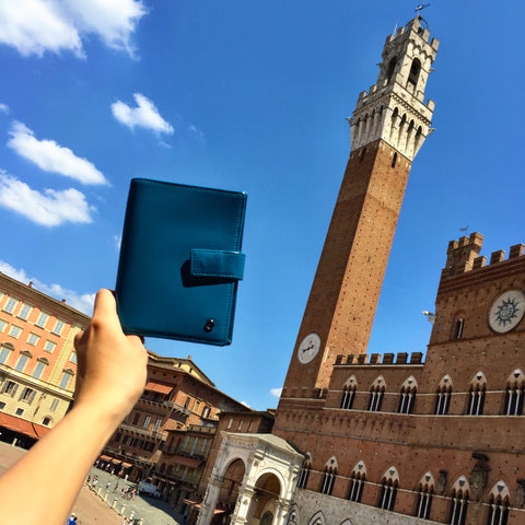 Blue Passport Holder Siena Italy