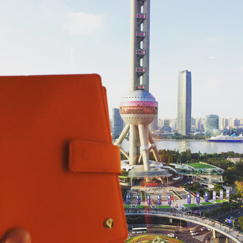 Orange Passport Holder Shanghai Pearl Tower