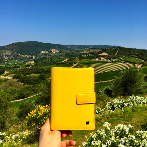 Yellow passport holder Italy
