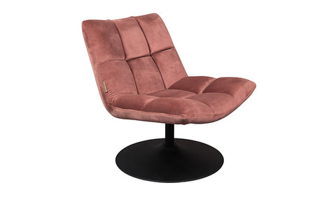 Lounge Chair Bar Velvet Old Pink