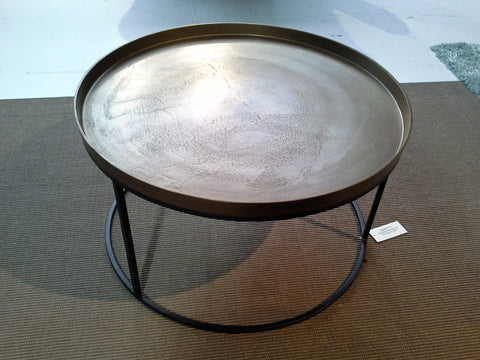 Coffee table Top Brass/black Iron