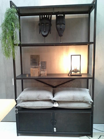 Zwarte Metalen Kast Salonshop Im Willems Home Interiors