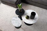 Side Table Snow Black