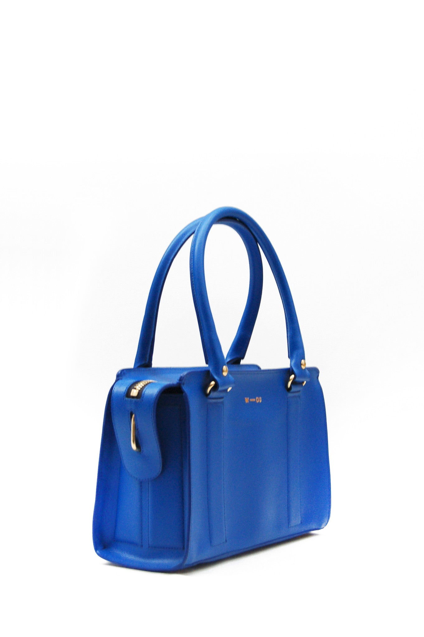 Wendee Ou: Austen structured bag blue | Bags > Totes,Bags -  Hiphunters Shop