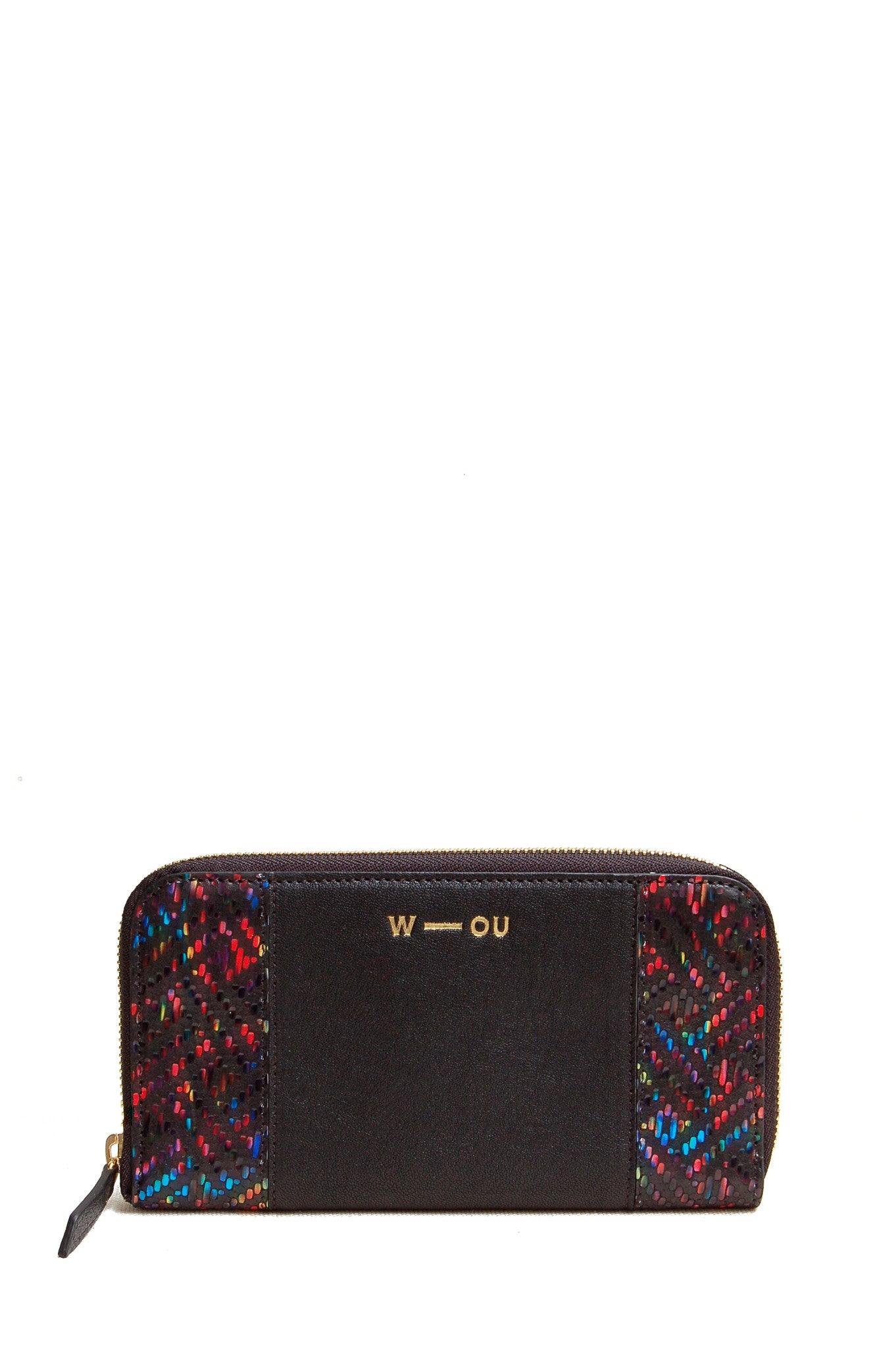 Wendee Ou: Georgie purse black rainbow | Accessories > Wallets,Accessories -  Hiphunters Shop