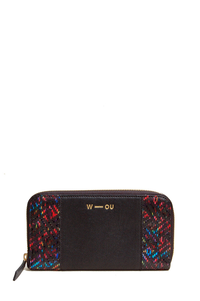 Georgie Purse Black Rainbow