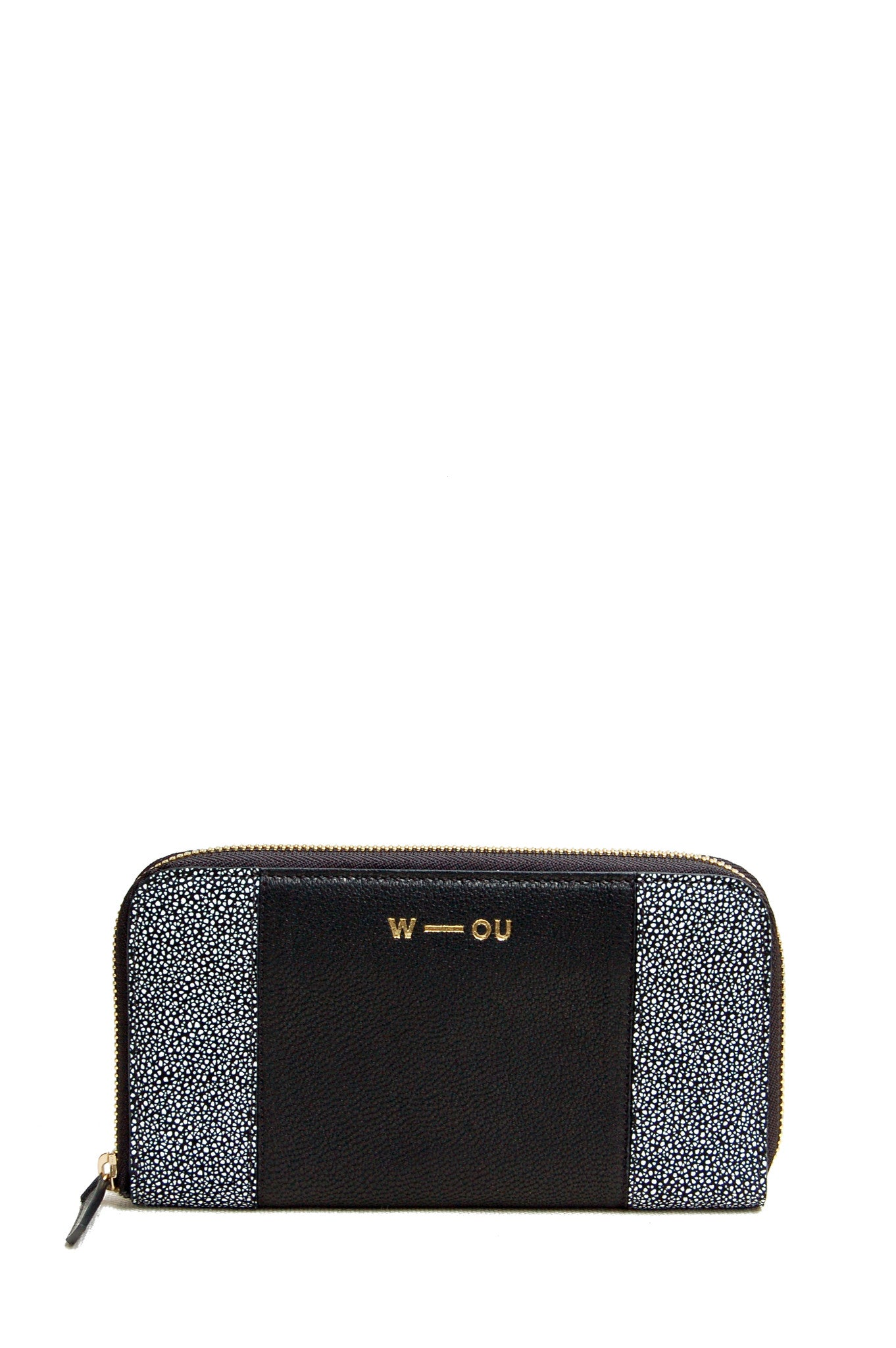 Wendee Ou: Georgie purse black & grey | Accessories > Wallets,Accessories -  Hiphunters Shop
