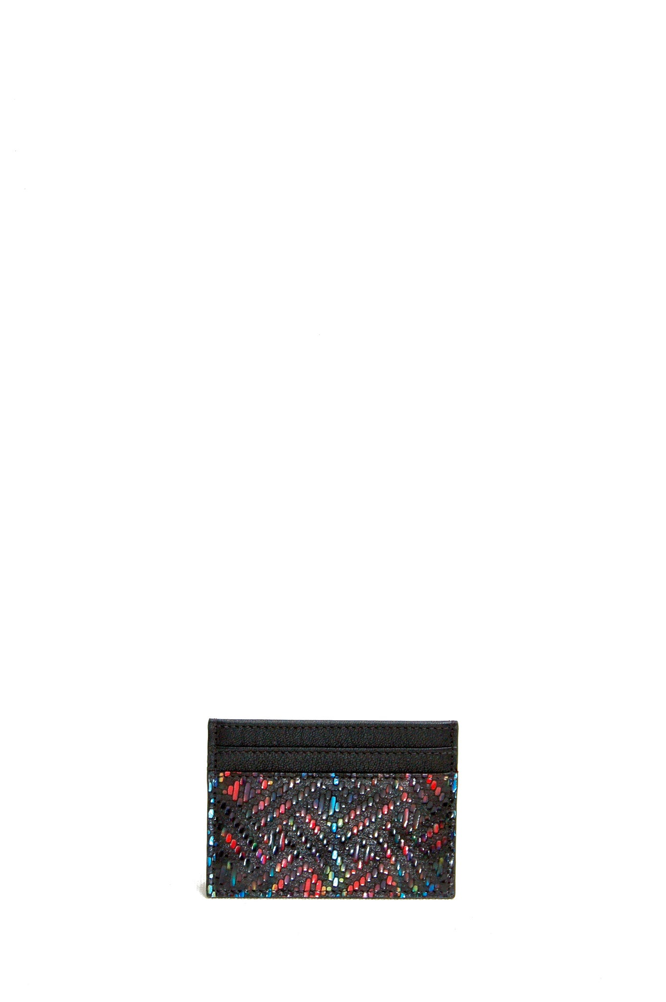 Wendee Ou: Gia cardholder black rainbow | Accessories > Wallets,Accessories -  Hiphunters Shop