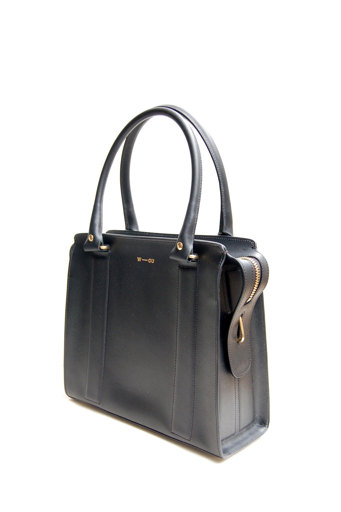 Wendee Ou: Middleton structured bag black | Bags > Handbags,Bags -  Hiphunters Shop