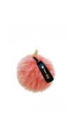 Raccoon Fur Pom Pom Bag Charm Light Pink