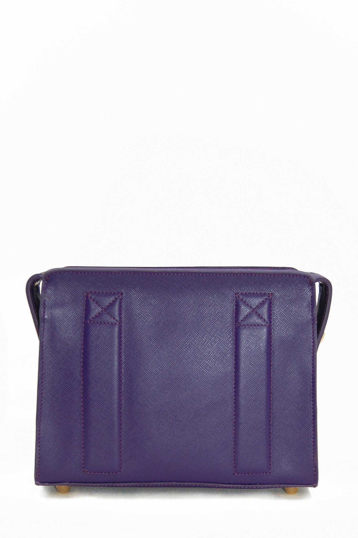 Wendee Ou: Sara box bag purple | Bags > Shoulder Bags,Bags -  Hiphunters Shop