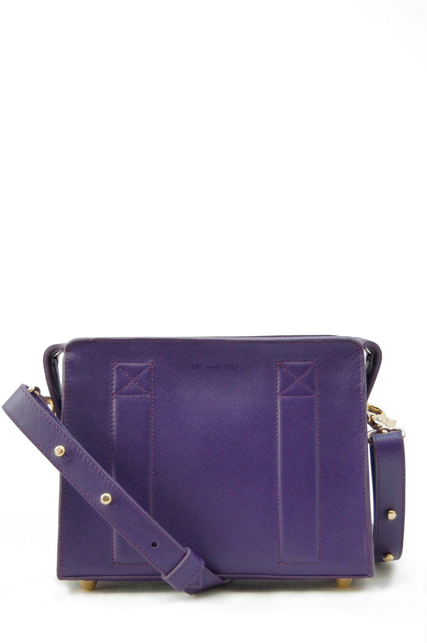 Sara box bag purple