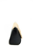 Sienna Shearling Cross-body Bag Black