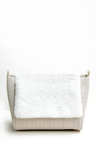 Sienna Shearling Cross-body Bag Perforated