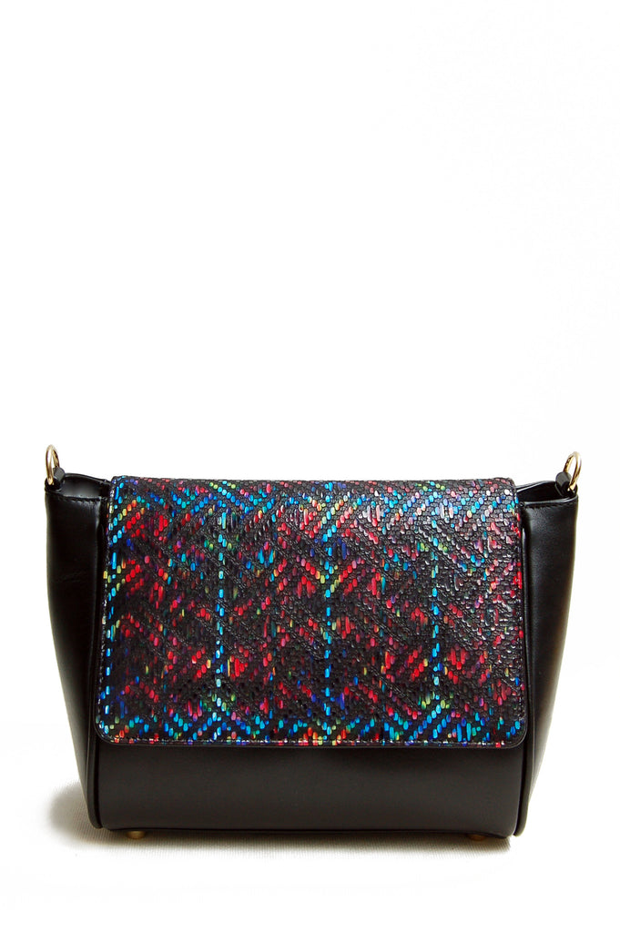 Sienna Printed Leather Cross-body Bag