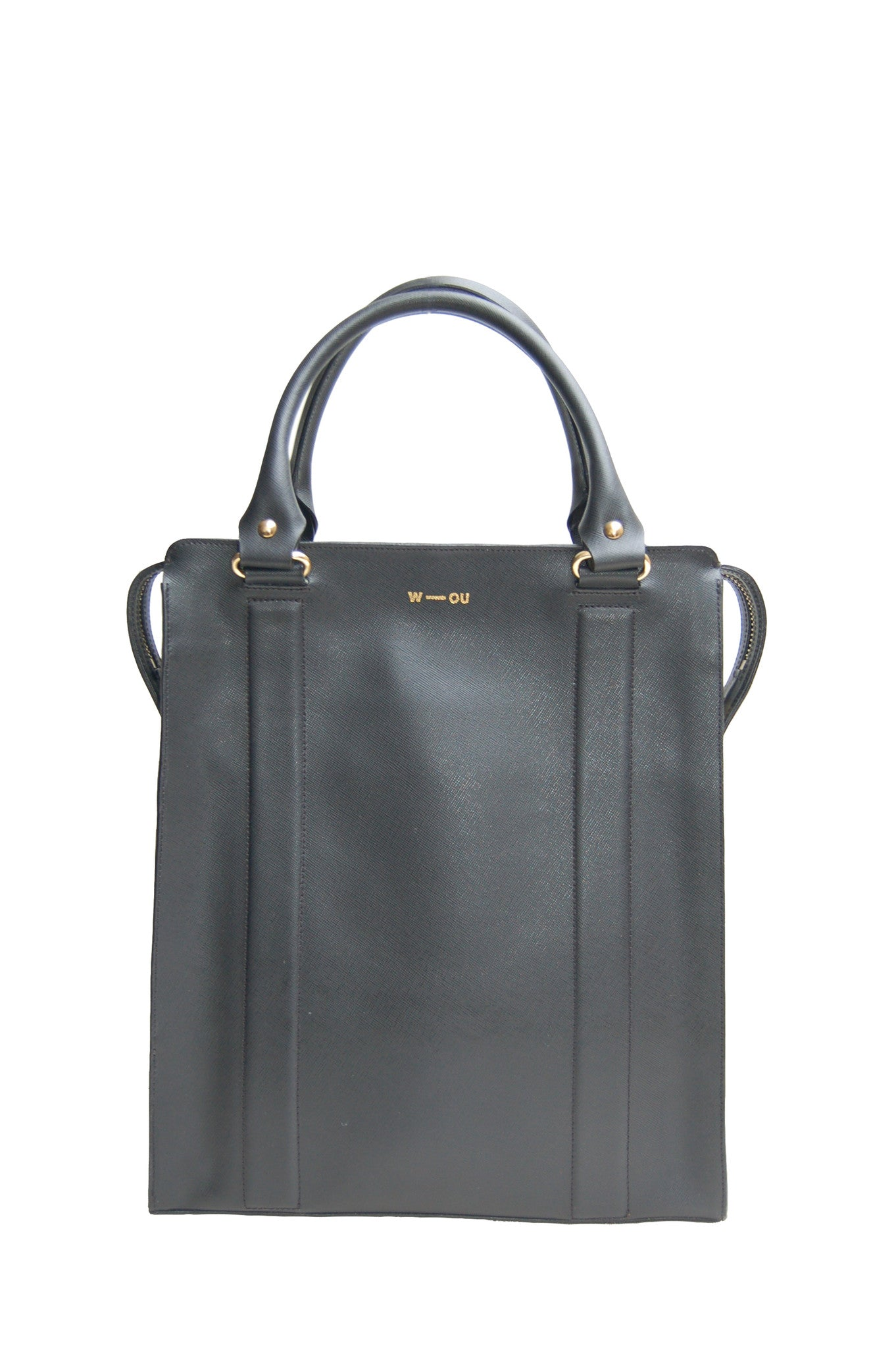 Wendee Ou: Ziggy structured bag black - Hiphunters Shop