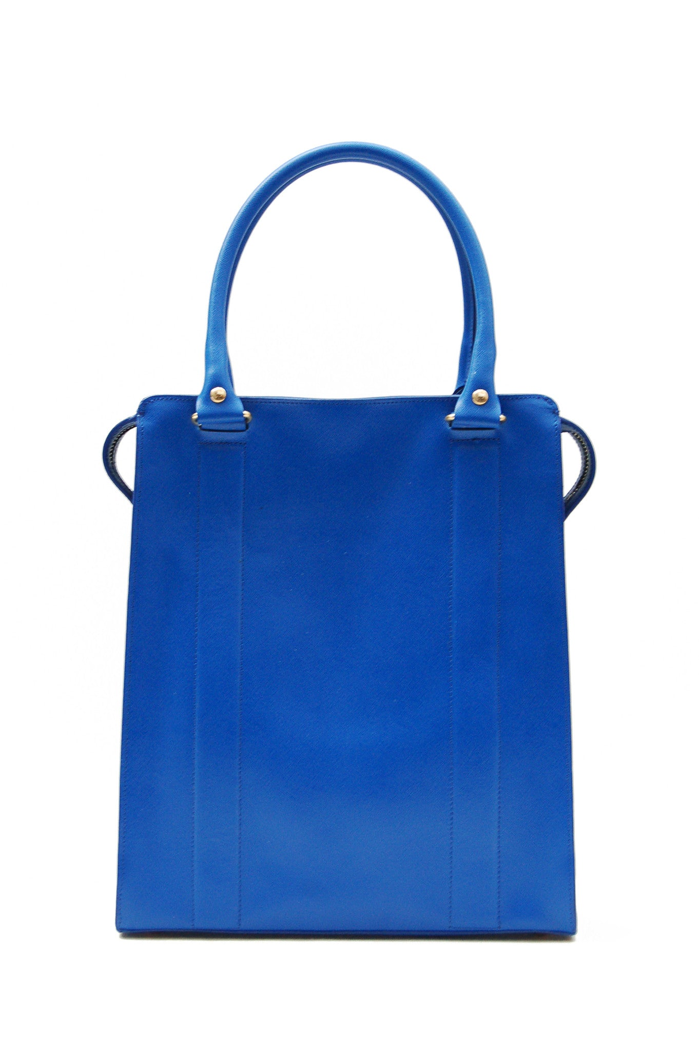 Wendee Ou: Ziggy structured bag blue | Bags > Totes,Bags -  Hiphunters Shop