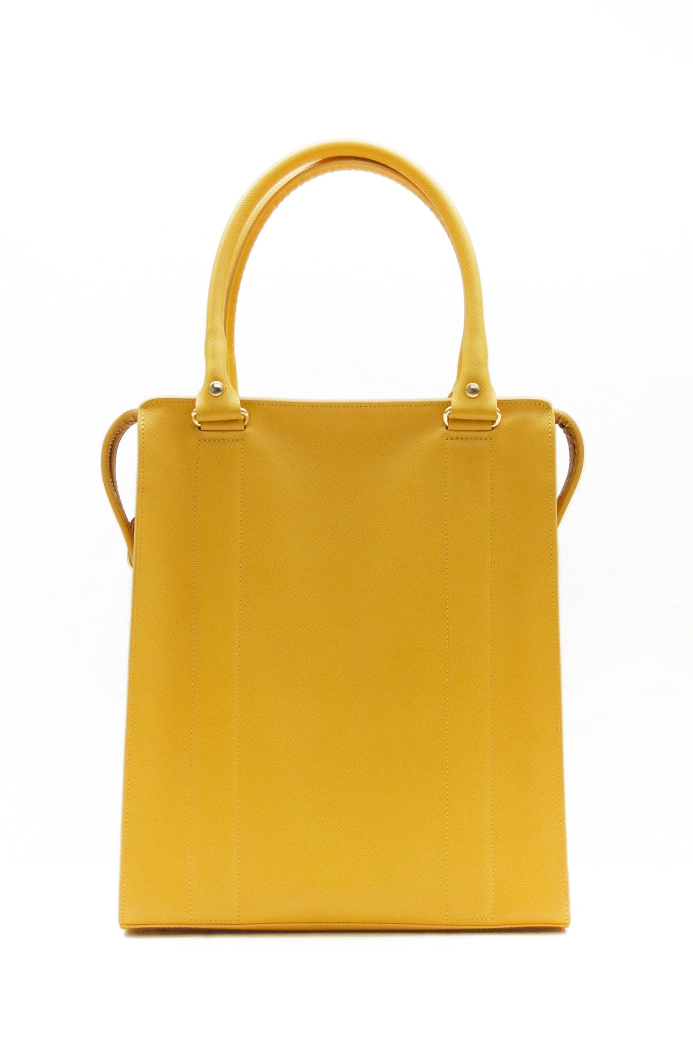 Wendee Ou: Ziggy structured bag yellow | Bags > Totes,Bags -  Hiphunters Shop