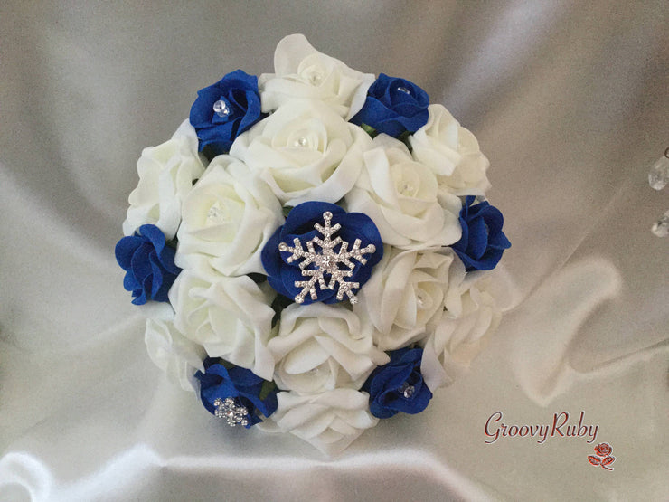 Royal Blue Snowflake Bouquet