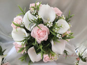 Baby Pink Rose & Large White Calla Lily
