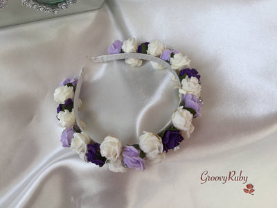 Purple, Lilac & Ivory Alice Band