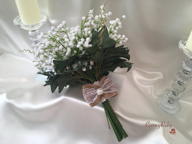 Hand Tied Gypsophila Bouquets