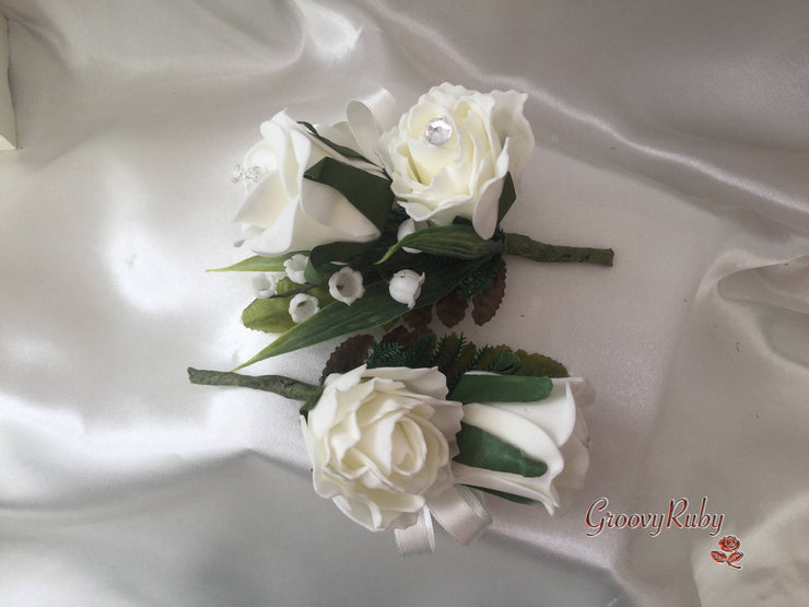 Rose, Carnation, Lily of the Valley & Foliage