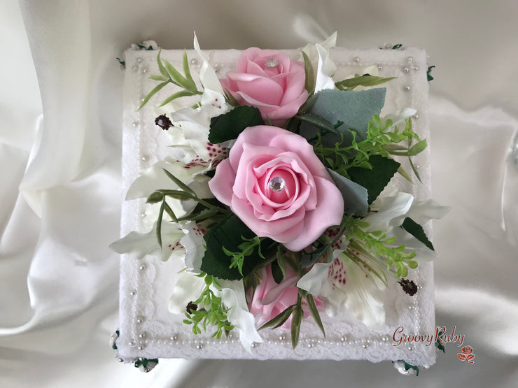 Small Tiger Lilies & Baby Pink Roses With Foliage