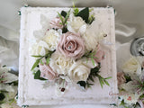 Small Tiger Lilies & Vintage Mocha Pink Roses With Foliage Cake Topper