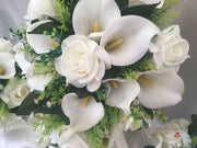 Ivory Rose & Large Calla Lily