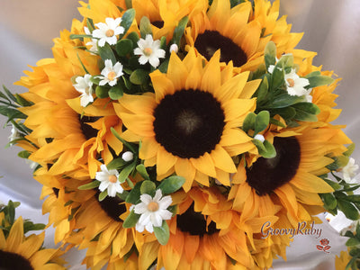 Sunflowers With Daisy Sprays