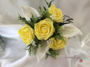 Lemon Rose & Large Ivory Calla Lily
