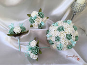 Mint Green & Ivory Butterfly Crystal