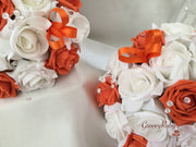 Orange & White Butterfly Crystal