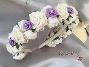 Lilac & White Alice Band