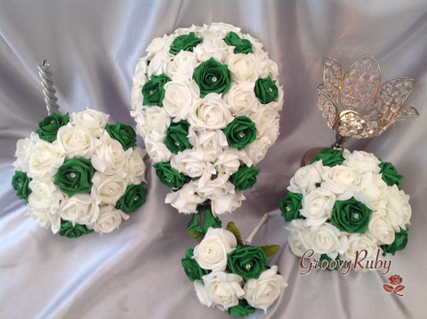 Emerald Green & Ivory Crystal Range