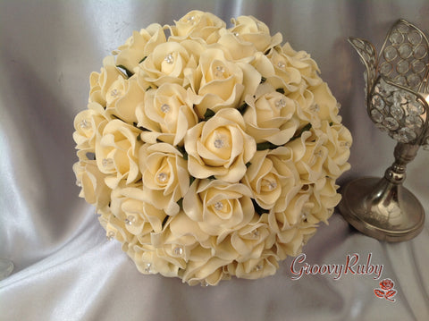 Full Cream Rose Crystal