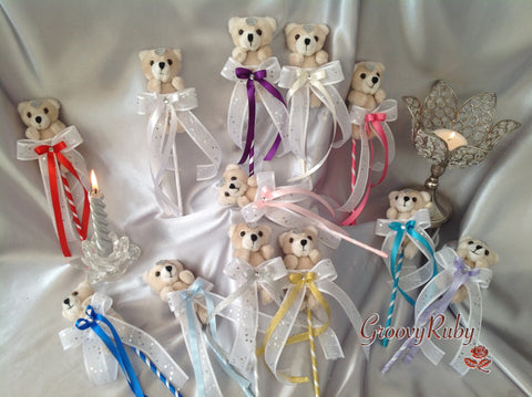 Baby/Toddler Flower Girl Bear Wands