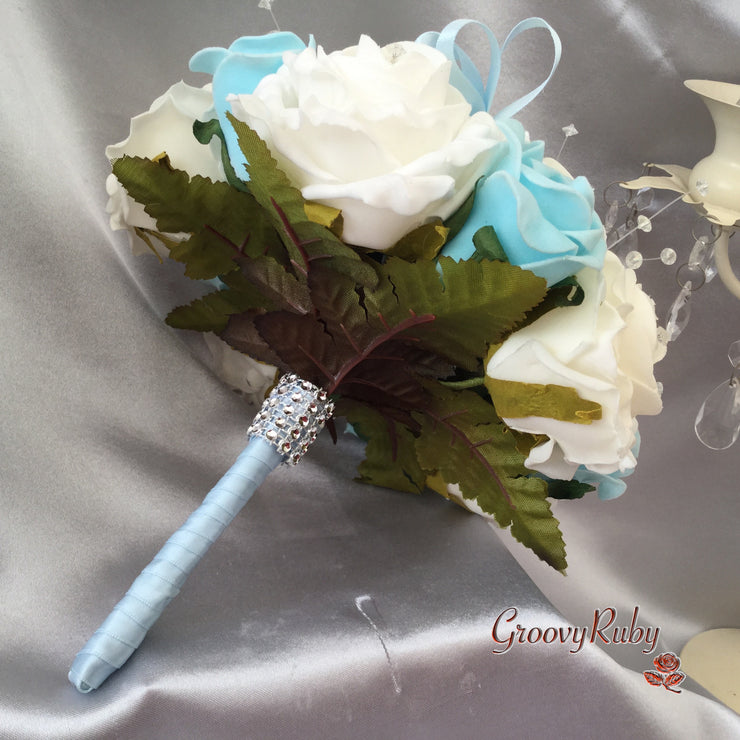 Back of Bouquet Baby Blue Butterfly