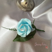 Baby Blue Single Buttonhole