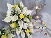 Lemon & Ivory Rose & Large Ivory Calla Lily