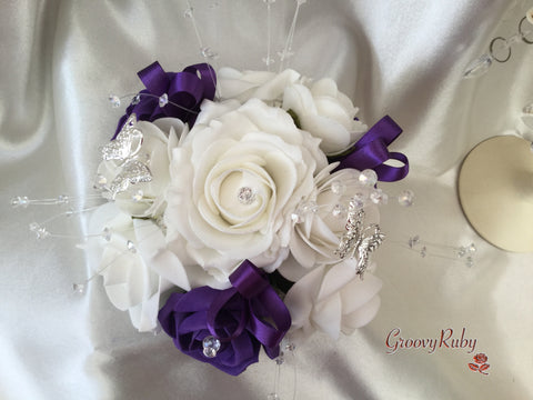 Cadbury Purple & Ivory Butterfly Cake Topper