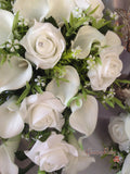 White Rose & Large White Calla Lily