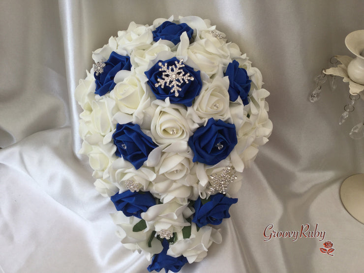 Royal Blue Snowflake