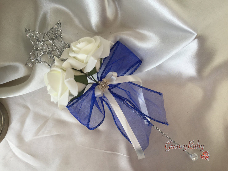 Full Flower Girl Wand Snowflake