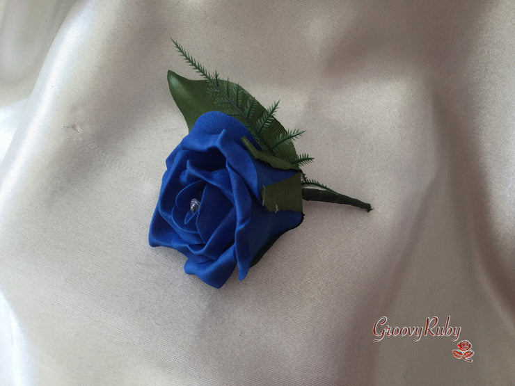 Single Royal Blue Buttonhole