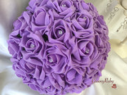 Full Lilac Rose Crystal